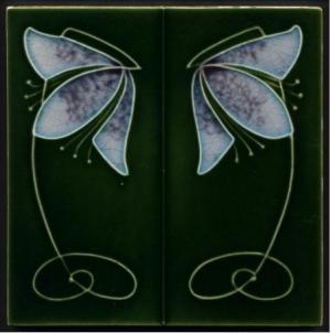 Henry Richards, Art Nouveau tile, © Tile Heaven