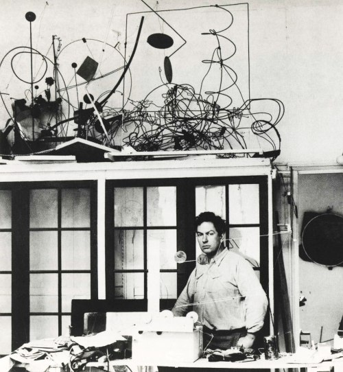 Alexander in his Paris Studio, late 1920s.