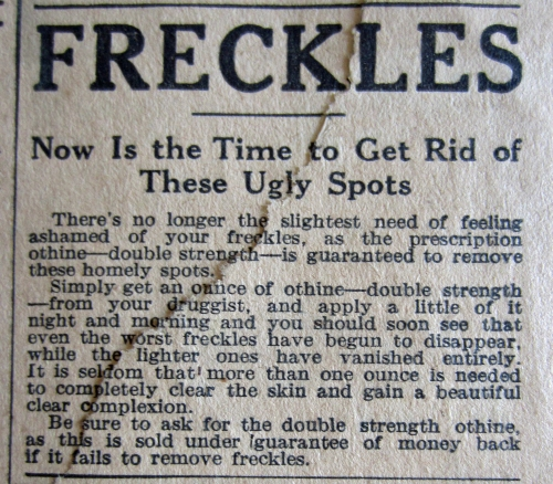 Freckles Advertisement