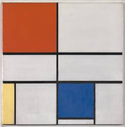 Piet, Mondrian. Composition C (No.III) with Red, Yellow and Blue. 1935. Photo courtesy of the Tate Museum.