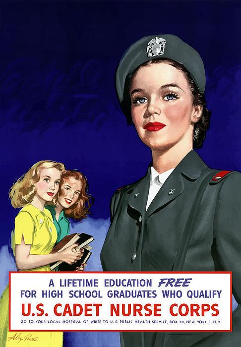 U.S. Cadet Nurse Corps Propaganda Poster