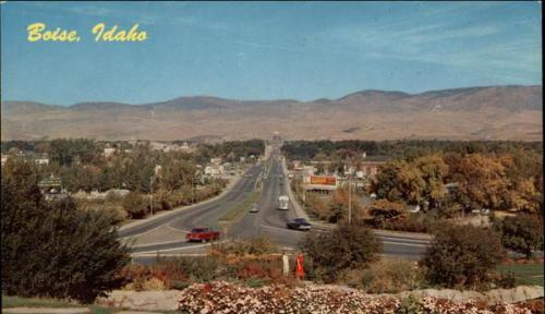Capitol Boulevard, Boise Idaho.  1960s postcard.