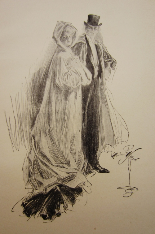 One of Harrison Fisher's illustrations in Hearts and Masks