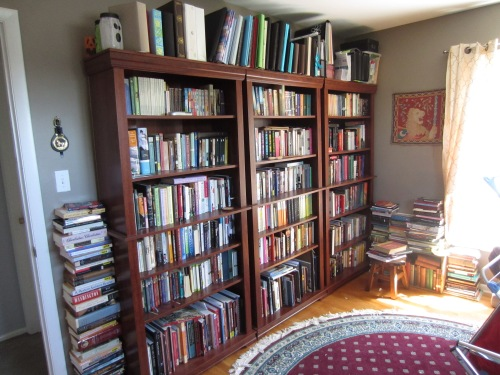 My home library.  I also have a small bookshelf in the hall, a small bookshelf in the living room, and a small set of books in my bedroom.