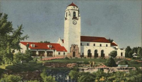 Boise Train Depot.  1940s postcard.