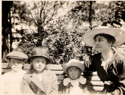The Condon children and their Irish nanny, c. 1916.