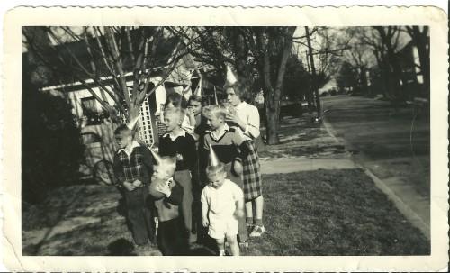 Ricky, birthday party 1950s