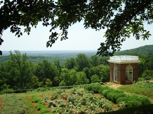 The kitchen gardens at Monticello, 2011.