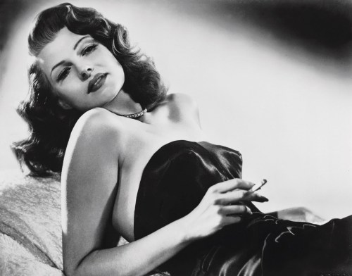 Was Clarence going for Rita Hayworth style waves? - Rita in Gilda, 1946.