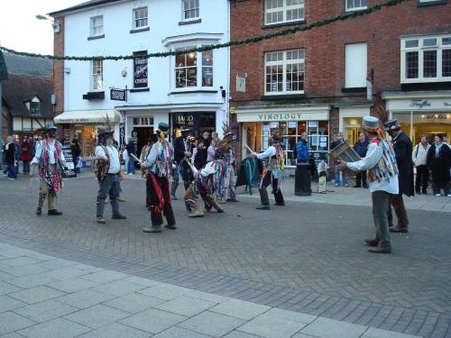 Morris dancers in Stratford, 2008.