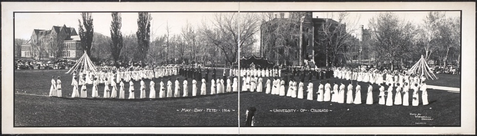 May Day Fete, University of Colorado, 1914.  Image courtesy of the Library of Congress.
