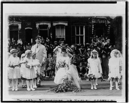 May Day Queen Irma Sweeney, 1925.  Image courtesy of the Library of Congress.