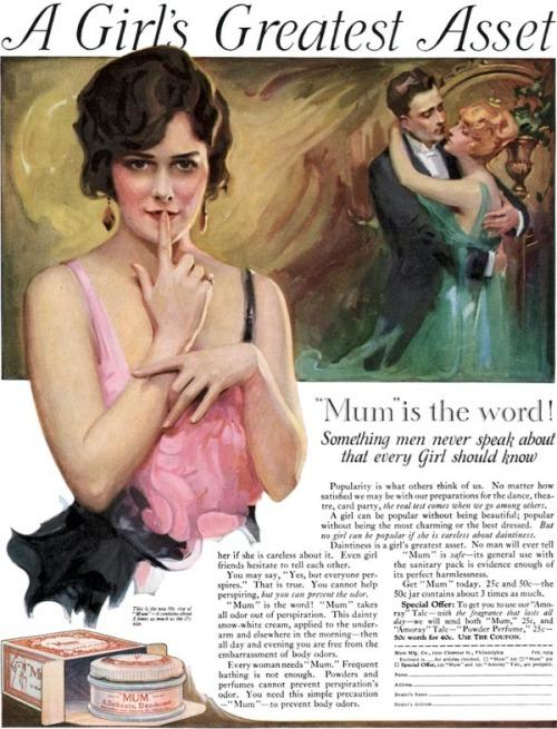 1920s, Mum Deodorant.