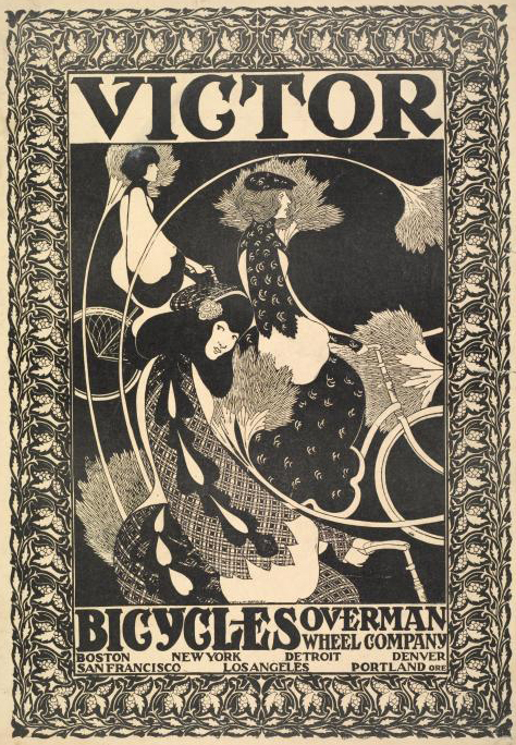 Victor Bike Ad by Will Bradley, c. 1896.  Photo courtesy of the New York Public Library.