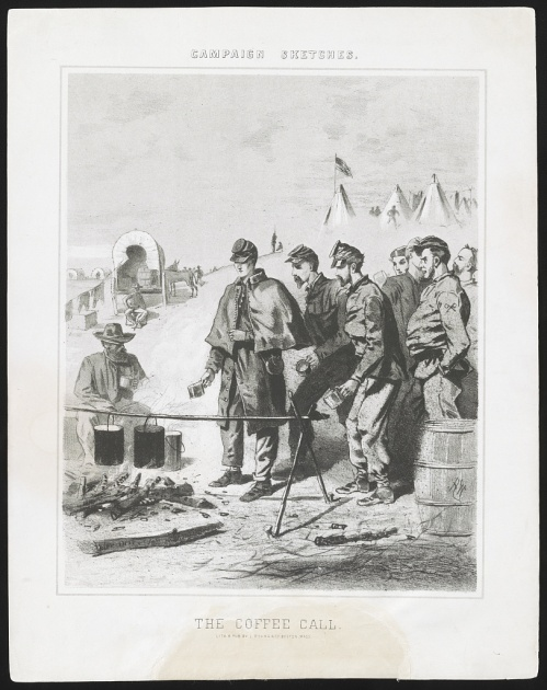 'The Coffee Call,' 1863.  Image courtesy of the Library of Congress.