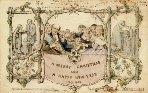 Cole and Horsley's Christmas card, 1843.