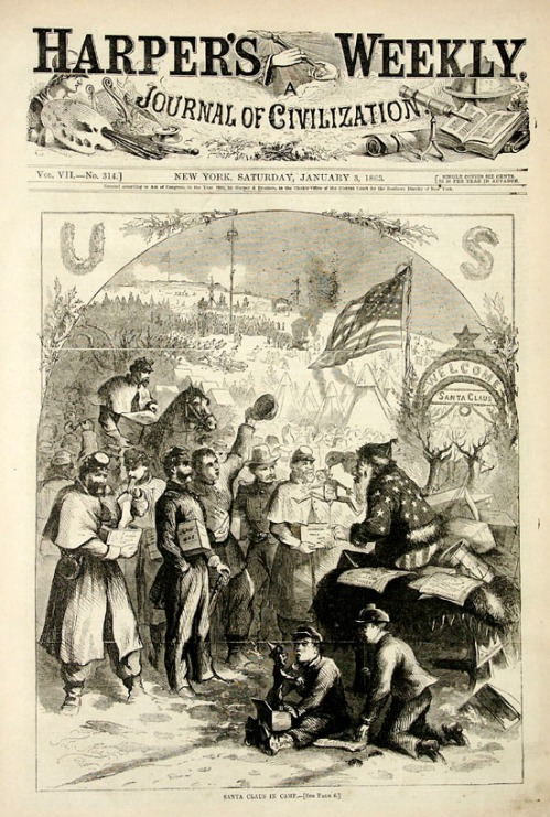 Thomas Nast's cover of Harper's Weekly, January 3, 1863.