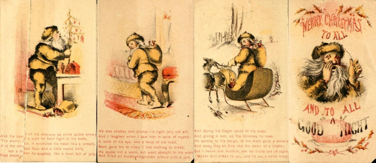 Louis Prang's 'A Visit From St. Nick,' published in 1864.  Images courtesy of the University of Pittsburgh Library.