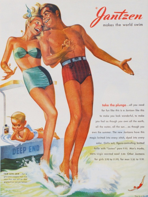 1947 swimsuit ad.  Image courtesy of Paul Mason.
