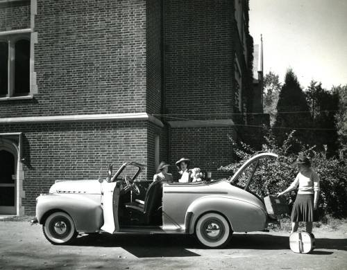 Road trip!  Photo courtesy of Lindenwood University, c.1940s